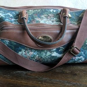 Vintage floral tapestry Mary Poppins style bag